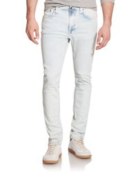 Nudie Jeans - Blue Lean Dean Carrot Slim-fit Jeans for Men - Lyst