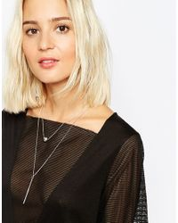 SELECTED - Metallic Jo Double Drop Ball Necklace - Lyst