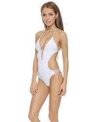Tori Praver Swimwear - White Sienna One Piece - Cloud - Lyst