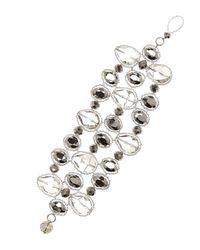 Nakamol | Metallic 3-row Crystal Bracelet | Lyst