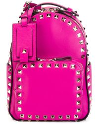 Valentino - Purple Mini 'rockstud' Backpack - Lyst