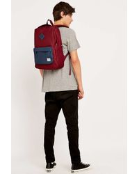 d51ec877f8f Herschel Supply Co. Heritage Burgundy And Navy Backpack in Red for ...