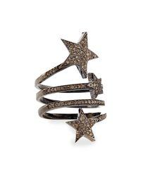 Siena Jewelry - Metallic Triple Star Diamond Ring - Lyst