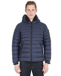Ai Riders On The Storm | Blue Zip-up Nylon Micro Ripstop Down Jacket for Men | Lyst