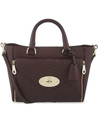 Mulberry | Purple Small Willow Tote | Lyst