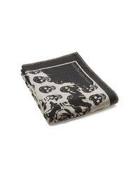 Alexander McQueen - Black Roses & Skull Knit Blanket - Lyst