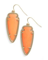 Kendra Scott | Orange 'sky Spear' Small Statement Earrings - Coral Magnesite | Lyst