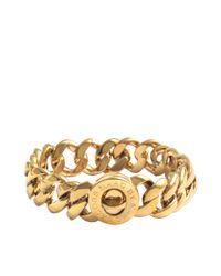 Marc By Marc Jacobs | Metallic Small Katie Turnlock Bracelet | Lyst