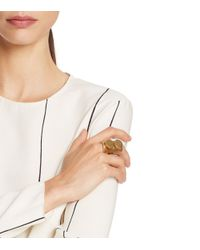 Tory Burch - Metallic Double-Circle Statement Ring - Lyst