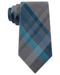 Kenneth Cole Reaction - Blue Iii Color Plaid Tie for Men - Lyst