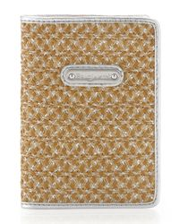 Eric Javits | Brown Ej Passport Cover Natural Frost | Lyst