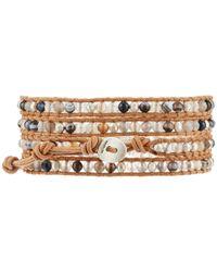 Chan Luu | White Cultured Freshwater Pearl Wrap Bracelet | Lyst