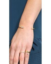 Elizabeth and James - Metallic Marisol Bangle Bracelet - Gold/Clear - Lyst