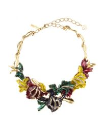 Oscar de la Renta | Multicolor Crystal-embellished Necklace | Lyst