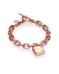 Michael Kors | Metallic Motif Padlock Toggle Bracelet | Lyst