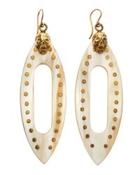 Ashley Pittman - Metallic Fuvu Skull Horn Drop Earrings - Lyst