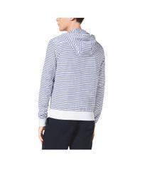 Michael Kors - Blue Striped Hooded Jacket for Men - Lyst