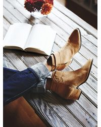 Free People - Natural Belleville Ankle Boot - Lyst