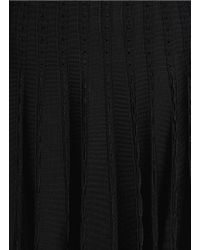Alice + Olivia - Black 'chatley' Eyelet Knit Flare Skirt - Lyst