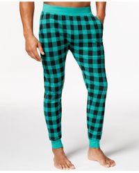 American Rag - Green Buffalo Plaid Thermal Jogger Pants, Only At Macy's for Men - Lyst