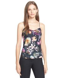 Ted Baker - Gray 'cynaria' Floral Print Camisole - Lyst