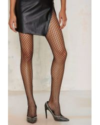 Nasty Gal - Black Net Life Tights - Lyst