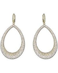 Swarovski - Metallic Abstract Large Pierced Earrings - Lyst