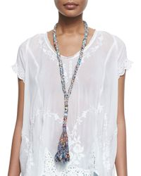 Johnny Was - Multicolor Vintage Rose Georgette Top - Lyst
