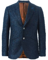 Maurizio Miri - Blue Bouclé Two Button Blazer for Men - Lyst