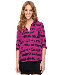 Splendid - Pink Gallery Shirting - Lyst