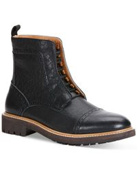 Calvin Klein Jeans | Black Tristram Cap Toe Lace-up Boots for Men | Lyst