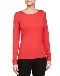 Wolford | Red Stretch-Jersey Long-Sleeved Top | Lyst