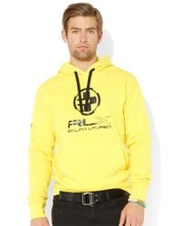 Polo Ralph Lauren - Yellow Lightweight Fleece Hoodie for Men - Lyst