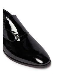 Artigiano - Black Patent Leather Monk Strap Shoes for Men - Lyst