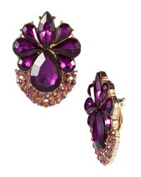 Catherine Stein | Purple Clip On Statement Earrings | Lyst