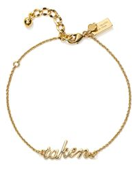 kate spade new york - Metallic Taken Bracelet - Lyst