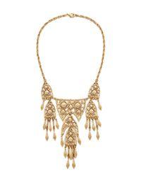 Ben-Amun   Metallic Dreamcatcher Statement Necklace - Gold   Lyst