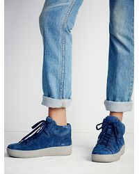 Free People | Blue Upsider Hi Top Sneaker | Lyst