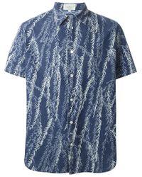 Paul Smith - Blue Leaves Print Shirt for Men - Lyst