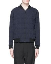 Song For The Mute - Blue Geometric Jacquard Bomber Jacket for Men - Lyst