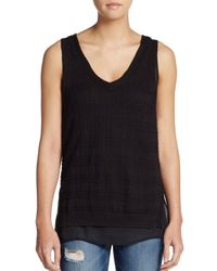Love Scarlett | Black Plaid Jacquard Tank Top | Lyst