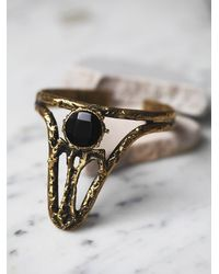 Free People | Metallic Break A Stone Womens Onyx Witch Cuff | Lyst