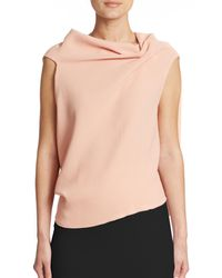 Roland Mouret - Pink Eugene Draped Wool Top - Lyst