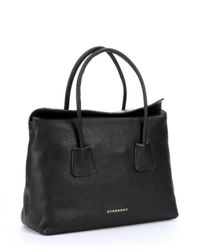 Burberry - Black Leather 'Baynard' Top Handle Medium Tote - Lyst