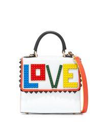 Les Petits Joueurs - White Alex Mini Rainbow Love Frame Bag - Lyst