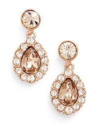 Givenchy | Pink Pear Halo Drop Earrings | Lyst