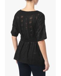 7 For All Mankind - Waist Tie Tunic In Black - Lyst