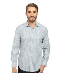 Perry Ellis | Metallic Non-iron Stripe Pattern Shirt for Men | Lyst