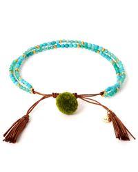 Tai | Blue Turquoise Pom-pom Stone Beaded Bracelet | Lyst