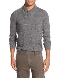 Eddie Bauer | Black 'river Rock - Ilaria Urbinati Collection' Trim Fit Shawl Collar Pullover Sweater for Men | Lyst